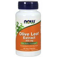 Pozostałe leki na układ pokarmowy, Now Foods Olive Leaf extract (Liść oliwny) 60 kaps.