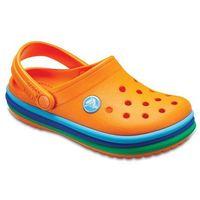 Pozostałe obuwie dziecięce, Buty Crocs Rainbow Band Clog Kids 205205 BLAZING ORANGE - POMARAŃCZOWY