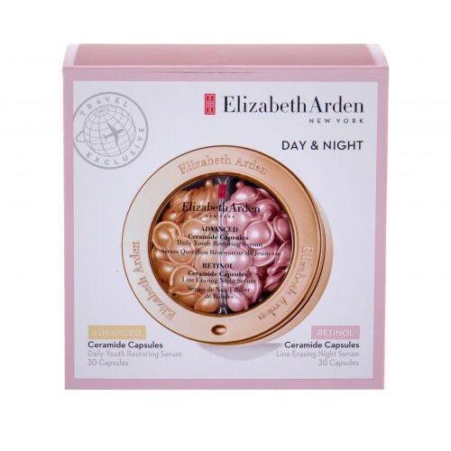 Pozostała pielęgnacja twarzy, Elizabeth Arden Ceramide Daily Youth Restoring Travel Kit zestaw Serum na dzień w kapsułkach 30 x 14 ml + Serum na noc w kapsułkach 30 x 14 ml W