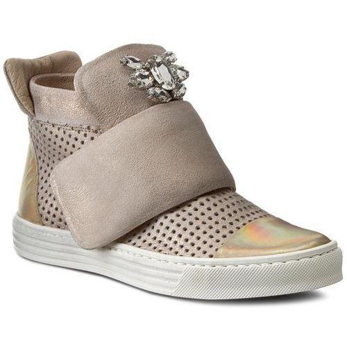 Półbuty damskie, Sneakersy CARINII - B3522M Venus 14 Plat. Multik./Dave Met.6715