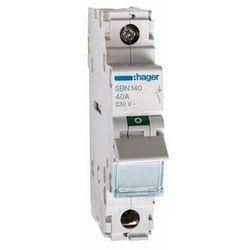 SBN140 Rozłącznik izolacyjny 40A 1 fazowy Hager (SB140)