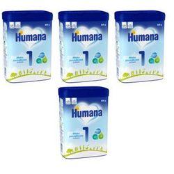 Zestaw 4x HUMANA 1 800g Mleko początkowe dla niemowląt Od urodzenia