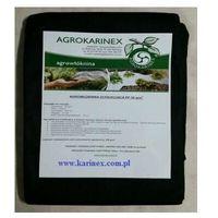 Folie i agrowłókniny, Agrowółknina ściółkujaca PP 50 g/m2 czarna 1,1 x 10 mb. Paczka o wadze 0,9 kg.