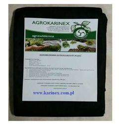 Agrowłóknina ściółkująca PP 50 g/m2 czarna 1,6 x 5 mb. Paczka o wadze 0,9 kg.