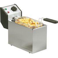 Frytownice gastronomiczne, Frytownica elektryczna, 1-komorowa 5 l, nastawna, 3,2 kW, 190x425x320 mm | ROLLER GRILL, 777320