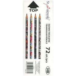 Ołówki trójkątne HB, 72 szt. Mix ST.RIGHT. Darmowy odbiór w niemal 100 księgarniach!