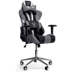 Fotel DIABLO CHAIRS X-Eye Czarno-biało-szary + Zamów z DOSTAWĄ JUTRO!