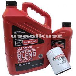 Oryginalny filtr oraz olej silnikowy Motorcraft 5W20 Lincoln MKZ V6 2009-