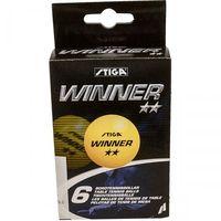 Tenis stołowy, Piłeczki do tenisa stołowego Stiga Winner żółte 6 sztuk