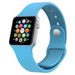 NIEBIESKI Sportowy silikonowy pasek do Apple Watch 38mm - Niebieski