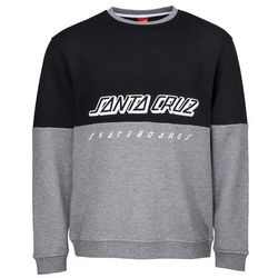 bluza SANTA CRUZ - SCS Crew Black/Dark Heather (BLACK-DARK HEATHER) rozmiar: M