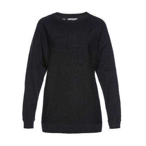 Swetry i kardigany, Sweter z rękawami typu nietoperz bonprix czarny