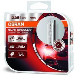 Osram Xenarc Original D2S HID Xenon nagrywarka, lampa wyładowcza, Night Breaker Unlimited, twarda osłona – podwójne opakowanie, biały