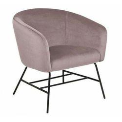 Różowy fotel tapicerowany w stylu glamour - Nerra 2X