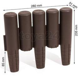 Palisada ogrodowa obrzeże 2,7m x 15,5cm Ciemny Brąz IPAL5 / IIPAL5BR / PROSPERPLAST - ZYSKAJ RABAT 30 ZŁ