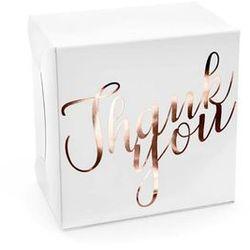 Ozdobne pudełko na ciasto weselne z napisem Thank You - 10 szt.