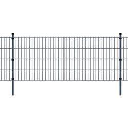 vidaXL Panele ogrodzeniowe 2D z słupkami 2008x830 mm 24 m Szare Darmowa wysyłka i zwroty