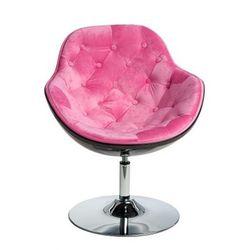 Fotel wypoczynkowy Ottav - różowo - czarny