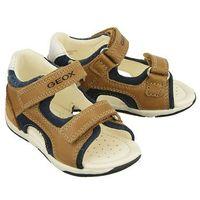 Sandały dziecięce, GEOX B820XC TABUZ B C5GF4 caramel/navy, rozmiary: 20-25, sandały dziecięce