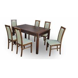 """Zestaw """"DIVA"""" stół + 6 krzeseł - zielony"""
