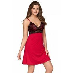 Babella malena czerwono-czarna damska koszula nocna