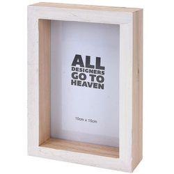 Drewniana ramka na zdjęcie - 11 cm x 16 cm - biała