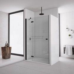 Sanswiss Annea drzwi do wnęki ze ścianką stałą uchylne 100 cm lewe czarne AN13G10000607