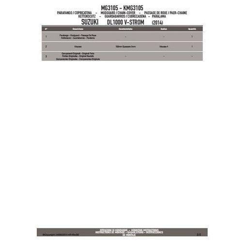 Błotniki motocyklowe, KAPPA KMG3105 BŁOTNIK TYLNY SUZUKI DL 1000 V-STORM (14)