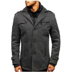Płaszcz męski zimowy szary Denley 88805