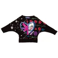 Koszulki z krótkim rękawkiem dziecięce, Desigual T-shirt dziewczęcy 116 czarny - BEZPŁATNY ODBIÓR: WROCŁAW!