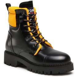 Trapery TOMMY JEANS - Fashion Pop Color Boot EN0EN01144 Black/Golden Bronze