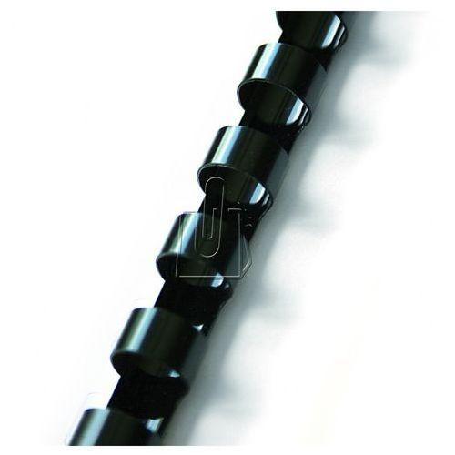 Grzbiety do bindownic, Grzbiety do bindowania plastikowe, czarne, 22 mm, 50 sztuk, oprawa do 210 kartek - Autoryzowana dystrybucja - Szybka dostawa