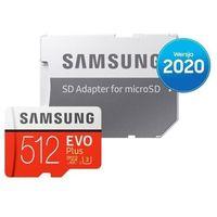 Karty pamięci, Karta pamięci SAMSUNG MB-MC512HA/EU microSDXC EVO Plus 512GB + adapter SD