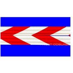 Taśma Odblaskowa 3M Scotchlite™ pasy ukośne biało-czerwone