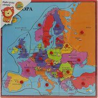 Układanki, Układanka drewniana z pinezkami Mapa Europy