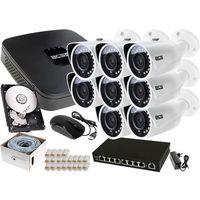 Zestawy monitoringowe, Zestaw do monitoringu: Rejestrator BCS-NVR08015ME-II + 8x Kamera BCS-TIP3200IR-E + 1TB