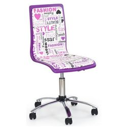 Fotel młodzieżowy Gimmer - biało-fioletowy
