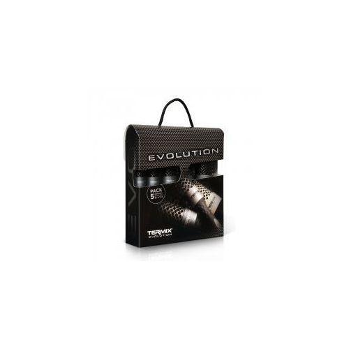 Pozostałe akcesoria do włosów, Termix Evolution Plus, zestaw 5 szczotek do włosów grubych, różne rozmiary