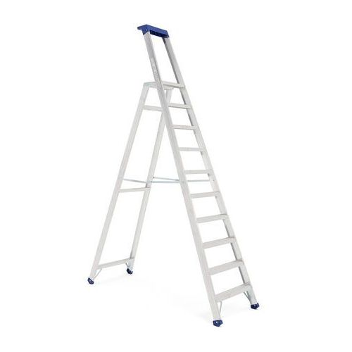 Drabiny, Drabina aluminiowa, 10 stopni, platforma 2310 mm