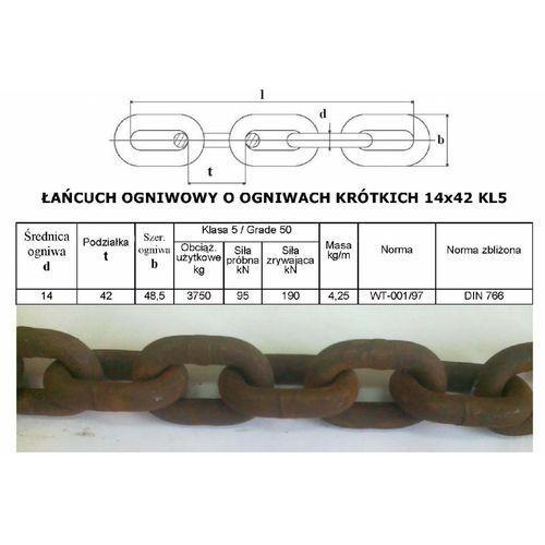 Maszyny i części rolnicze, Łańcuch Rozrzutnika Obrornika 14x42 KL5