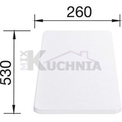 Deska BLANCO z białego tworzywa do MEDIAN, METRA, ZIA, LEXA, LANTOS - 530x260x20mm (217611)