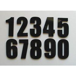 Numer Numery Cyferki na Drzwi Czarna Szara Pleksi