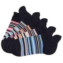 Skarpetki do sneakersów Arizona (5 par) bonprix 5x czarny w paski
