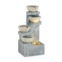 Blumfeldt Delos, fontanna, LED, do użytku wewnątrz i na zewnątrz, kabel o długości 5 m, cement, szara
