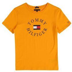 TOMMY HILFIGER Koszulka 'Essential Graphic' niebieska noc / żółty / czerwony / biały