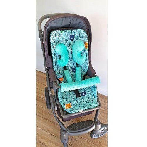 Pozostałe wyposażenie wózków, Wkładka do wózka, ochraniacze na pasy i pałąk + motylek las