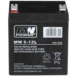 Akumulator MW Power MWL 5-12 ( 12V 5000mAh )- wysyłka dziś do godz.18:30. wysyłamy jak na wczoraj!