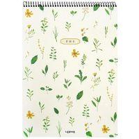 Pozostałe artykuły papiernicze, Kołoszkicownik A3/40K zioła zółte kwiatki