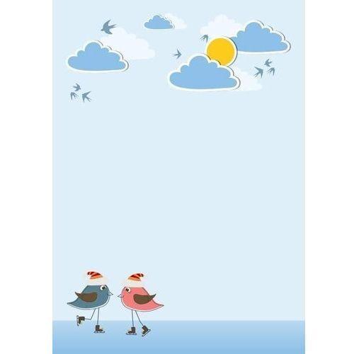 Tablice szkolne, Tablica magnetyczna suchościeralna dla dzieci ptaszki, chmurki 132