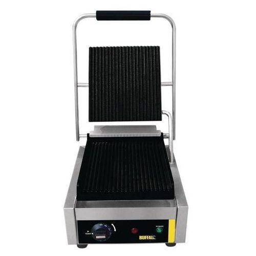 Grille gastronomiczne, Grill kontaktowy żeliwny pojedyńczy ryflowany | 1500W
